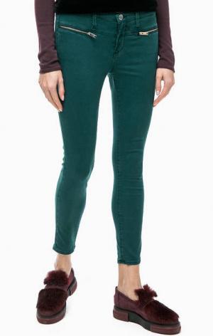 Зауженные зеленые брюки из хлопка rich&royal. Цвет: зеленый