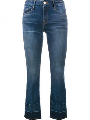 Укороченные джинсы с контрастными краями Frame Denim. Цвет: синий