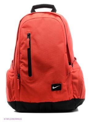 Рюкзак NIKE. Цвет: красный, черный
