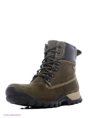 Ботинки WOODLAND. Цвет: оливковый