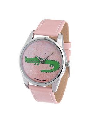 Часы Mitya Veselkov Крокодил (нежно-розовый) Арт. Color-82. Цвет: розовый