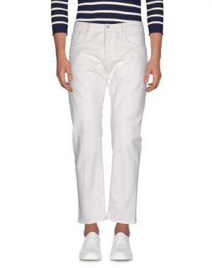 Джинсовые брюки (+) PEOPLE. Цвет: белый