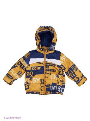 Куртка Oldos. Цвет: синий, горчичный