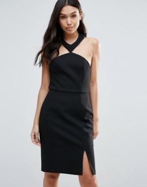 Talulah Платье с разрезом Brighter Than Sun. Цвет: черный