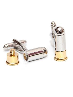 Запонки оружие - пули Churchill accessories. Цвет: серебристый