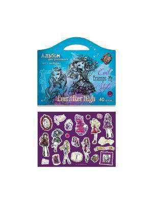 Альбом для рисования фигурные с наклейками 40л Ever After High Mattel. Цвет: голубой