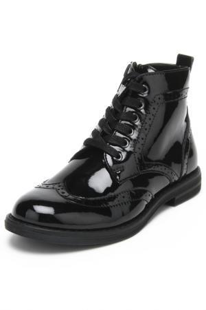 Ботинки KENKA. Цвет: черный лак