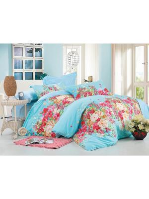 Комплект постельного белья 2 сп. сатин, рисунок 685 LA NOCHE DEL AMOR. Цвет: голубой