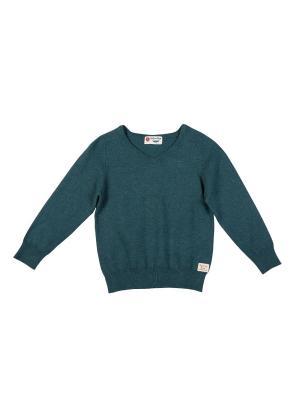 Пуловер Button Blue. Цвет: бирюзовый