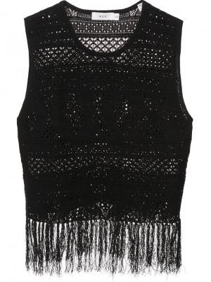 Fringed crochet tank top A.L.C.. Цвет: чёрный