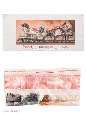 Набор для вышивания бисер Васьки & Ко Матренин Посад. Цвет: белый, коричневый
