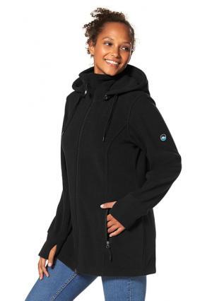 Куртка POLARINO. Цвет: цвет баклажана, черный