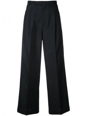 Wide-leg cropped trousers Cityshop. Цвет: чёрный