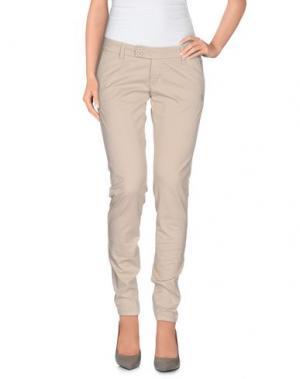 Повседневные брюки DUCK FARM. Цвет: светло-серый