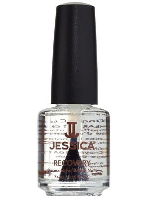 Базовое покрытие с белком пшеницы и кальцием для хрупких ломких ногтей Recovery, 7,4 мл JESSICA. Цвет: прозрачный