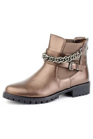 Ботинки Norka. Цвет: бронзовый
