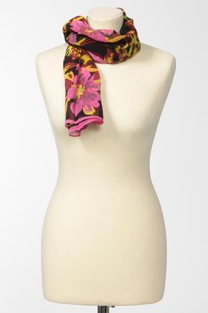 Платок Marina DEste D'Este. Цвет: черный, розовый, желтый