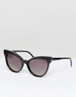 Wildfox Солнцезащитные очки Grand Dame. Цвет: черный