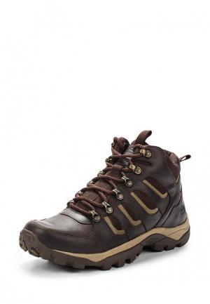 Ботинки трекинговые Woodland. Цвет: коричневый