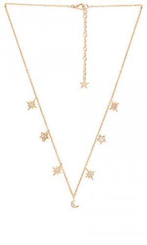 Ожерелье celestial stars and moons Child of Wild. Цвет: металлический золотой