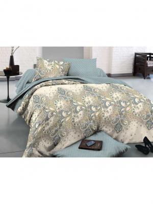 Комплект постельного белья 2сп, поплин BegAl. Цвет: бирюзовый