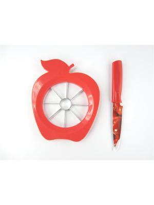 Набор для фигурной нарезки продуктов JJA. Цвет: красный