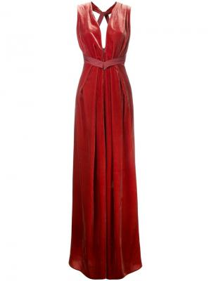 Вечернее платье Voyager Bianca Spender. Цвет: красный