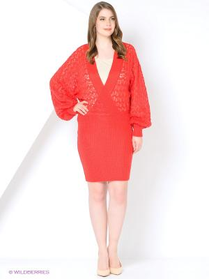 Платье Красный Зигзаг мохер SEANNA