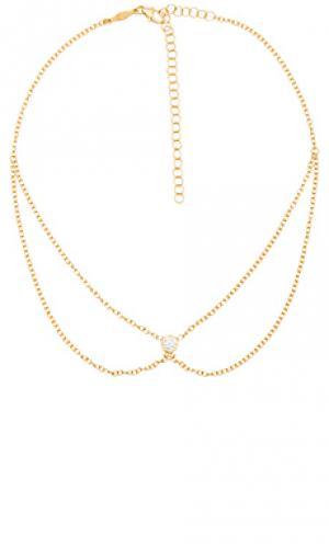1 cz selena necklace Jacquie Aiche. Цвет: металлический золотой