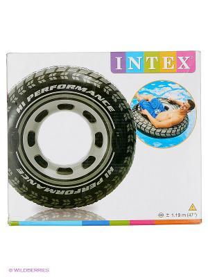 Надувной круг Шина Intex. Цвет: черный