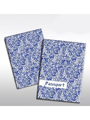 Обложка для паспорта Гжель Magic Home. Цвет: белый
