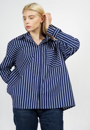 Рубашка BURLO. Цвет: синий