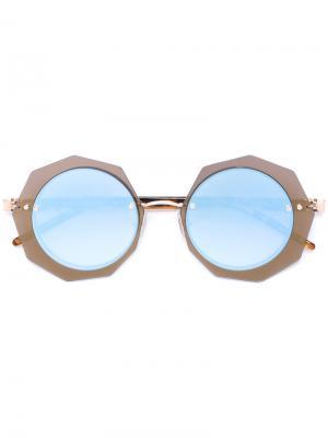 Солнцезащитные очки Loree Rodkin Sama Eyewear. Цвет: коричневый