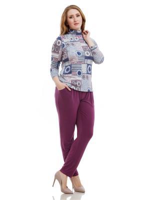 Брюки Lady Di. Цвет: темно-фиолетовый, фиолетовый