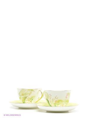 Чайный набор на 2 перс. Калла (Calla Charme Pavone) Pavone. Цвет: зеленый