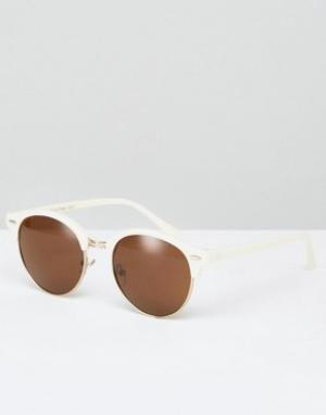 AJ Morgan Солнцезащитные очки в стиле ретро. Цвет: белый