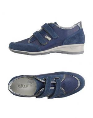Низкие кеды и кроссовки KEYS. Цвет: грифельно-синий