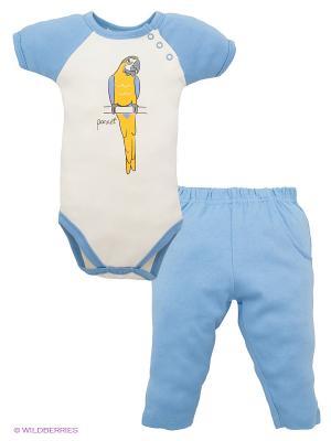 Комплект Hudson Baby. Цвет: голубой, молочный