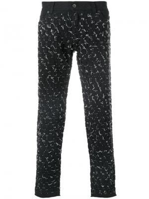 Брюки с простроченной отделкой Dolce & Gabbana. Цвет: чёрный
