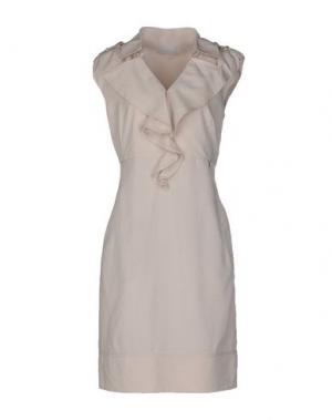 Платье до колена ROBERTA SCARPA. Цвет: голубиный серый