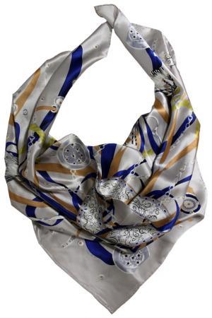 Шелковый платок SHALBE. Цвет: серый