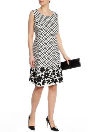 Платье Zizzi. Цвет: ecru, black