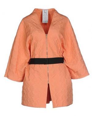 Легкое пальто PINKO UNIQUENESS. Цвет: абрикосовый