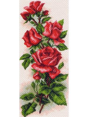 Набор для вышивания Алые розы Матренин Посад. Цвет: белый, зеленый, красный