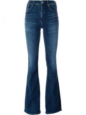 Расклешенные джинсы Fleetwood High Rise Citizens Of Humanity. Цвет: синий