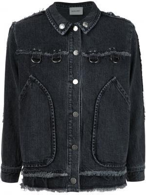 Джинсовая куртка с необработанными краями Rachel Comey. Цвет: чёрный