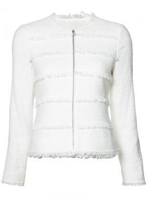 Frayed trim jacket Rebecca Taylor. Цвет: белый