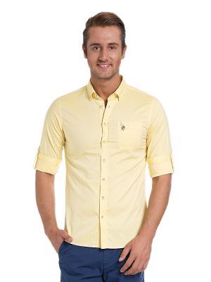 Рубашка U.S. Polo Assn.. Цвет: желтый