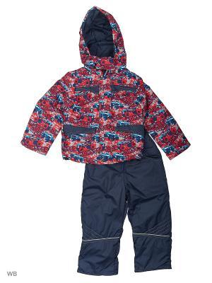 Комплект для мальчика демисезонный /куртка, полукомбинезон/ Rusland. Цвет: красный