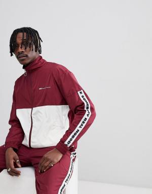 Wood Спортивная куртка с отделкой лентой Homer. Цвет: красный